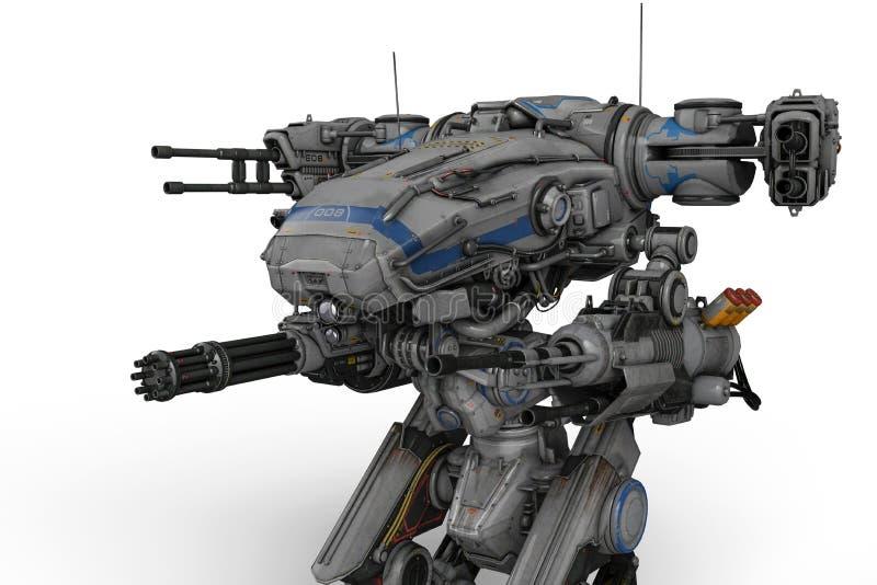 Массивнейший робот будущего машины иллюстрация вектора