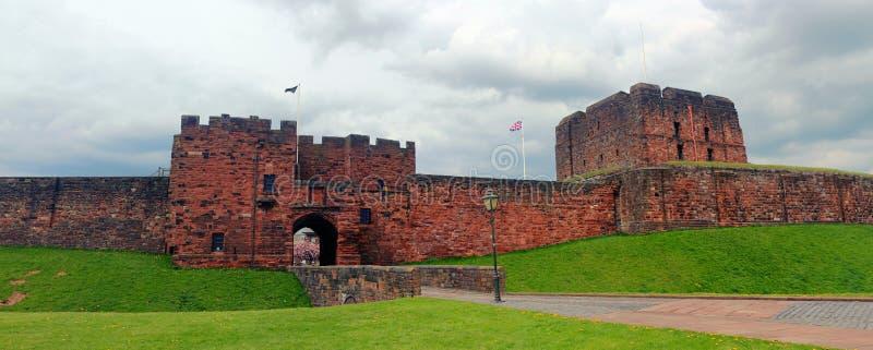 Массивный отстробируйте и сдержите замка Карлайла, Cumbria, Англии стоковая фотография rf