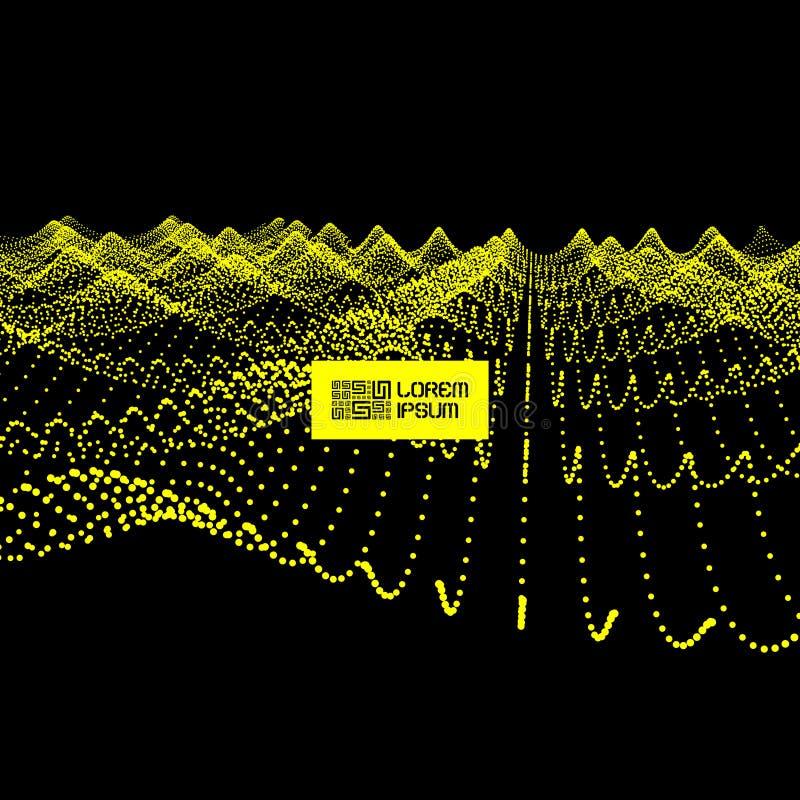 Массив с динамическими частицами Пропуская волны частицы иллюстрация вектора
