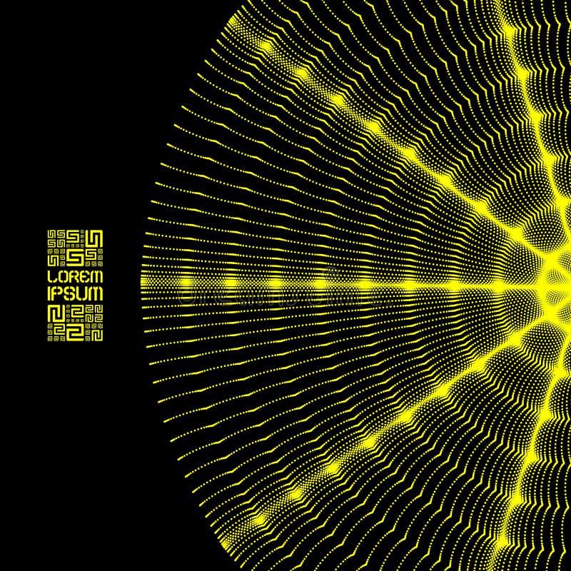 Массив с динамическими частицами Пропуская волны частицы бесплатная иллюстрация