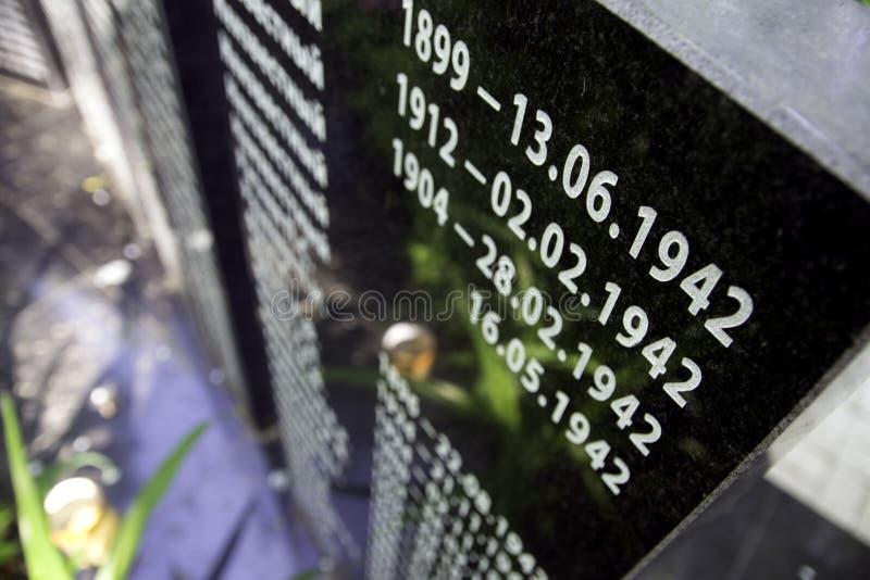 Массовое захоронение для солдат которые умерли стоковое фото rf
