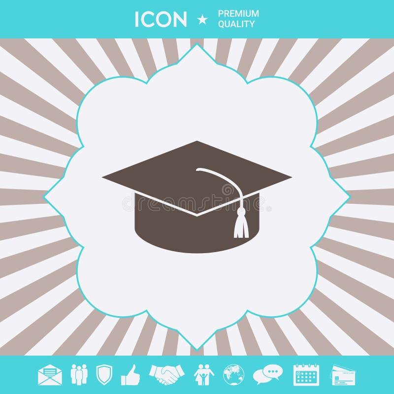 Мастерская крышка для студент-выпускников, квадратная академичная крышка, значок крышки градации r бесплатная иллюстрация