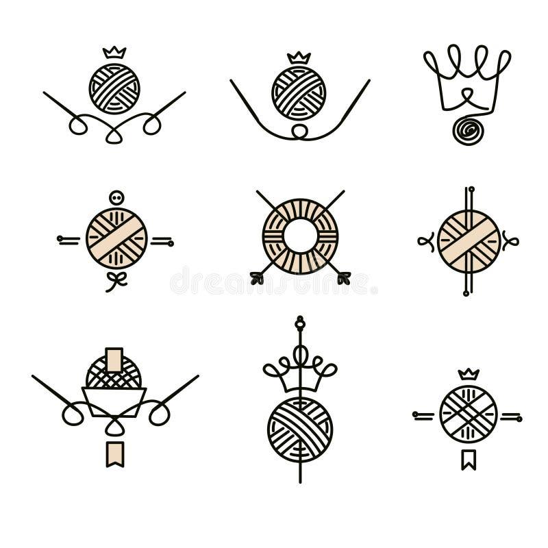 Мастерская, курс, мастерский логотип шаблона вектора класса, значок, labe иллюстрация вектора
