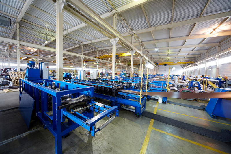 Мастерская производства на заводе стоковые изображения rf