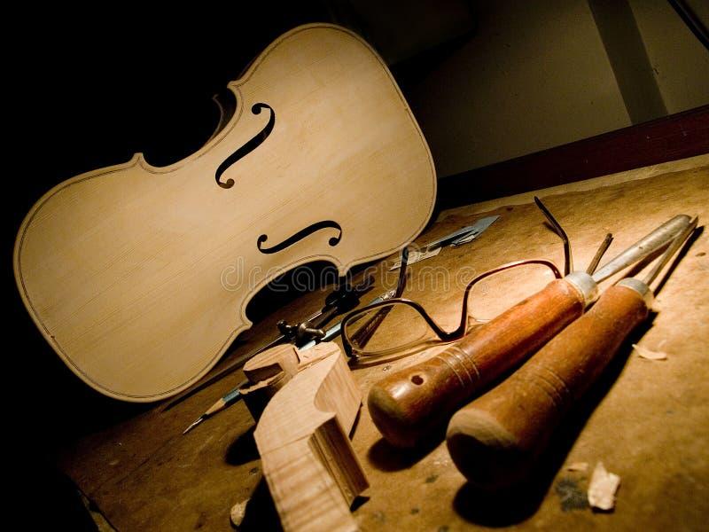 Мастерская скрипки стоковая фотография