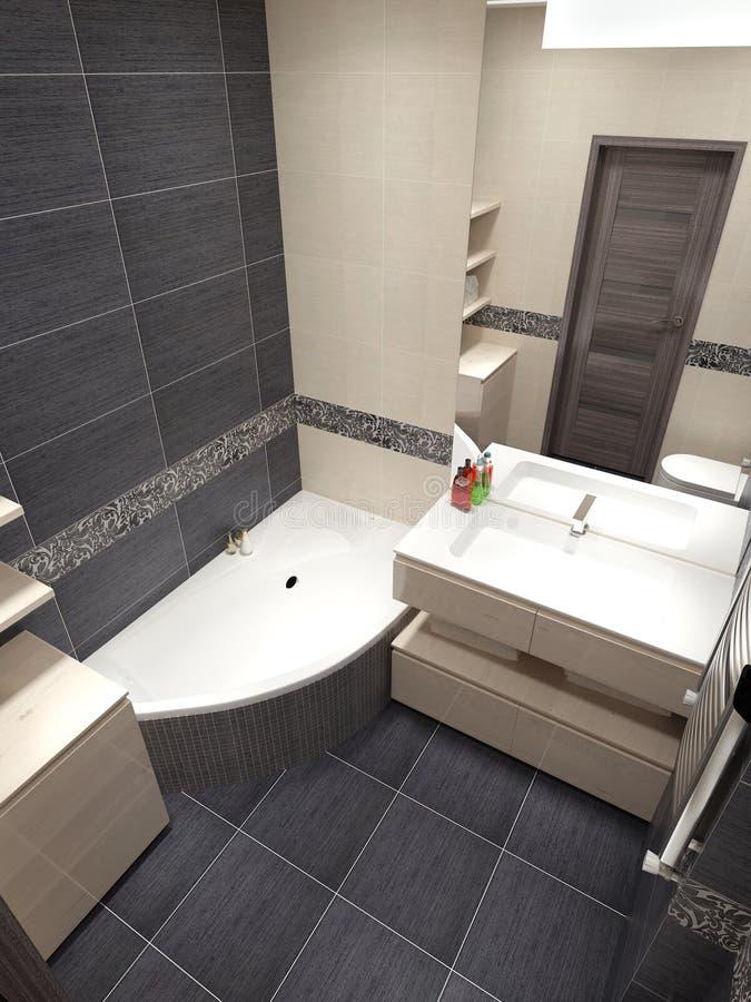 Мастерский современный стиль ванной комнаты стоковые изображения