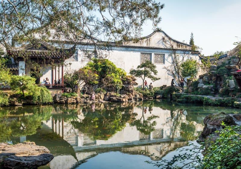Мастер сетей садовничает юани Wang Shi, Сучжоу, Китай стоковая фотография rf