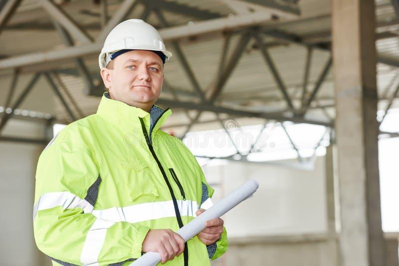 Мастер строительной площадки конструкции стоковые изображения rf