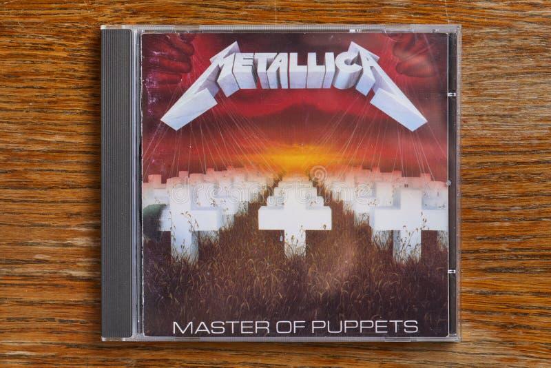 Мастер Metallica КОМПАКТНОГО ДИСКА марионеток стоковые фотографии rf