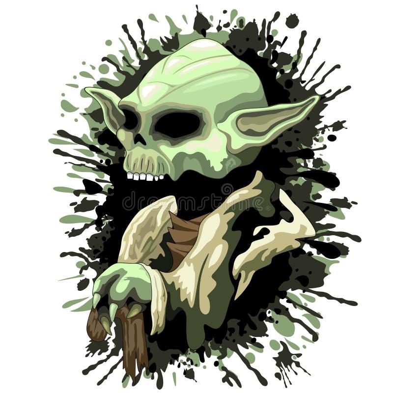 Мастер Yoda Jedi черепа иллюстрация штока