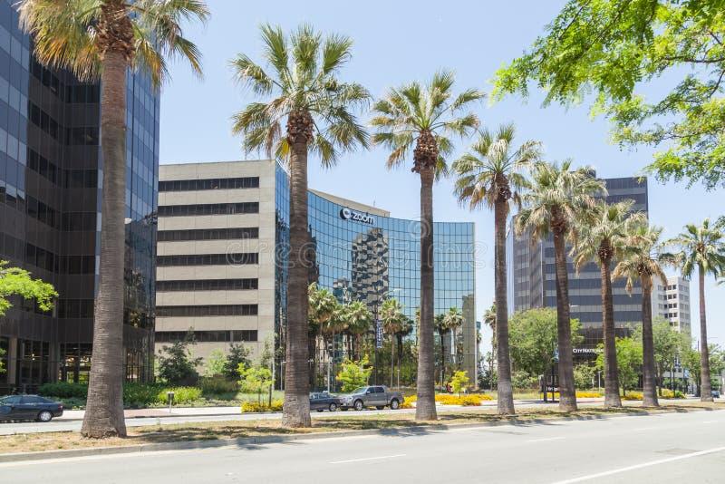 Масштабирование штаб-квартиры компании в Силиконовой долине стоковое изображение