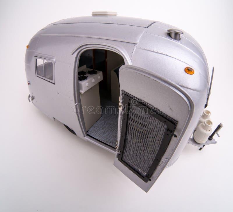 Масштабная модель туриста RV Airstream стоковые изображения rf