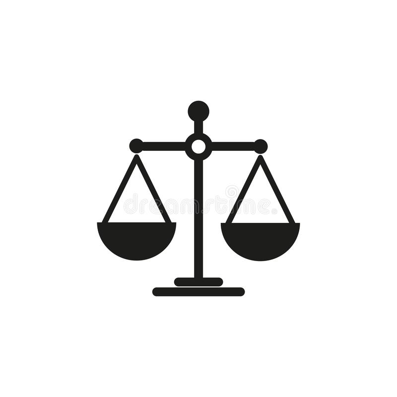 Масштабы значка баланса иллюстрация штока