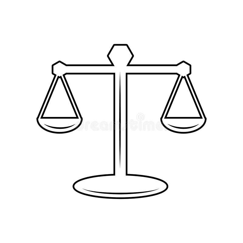 масштабы значка закона Элемент полиции для мобильных концепции и значка приложений сети r бесплатная иллюстрация