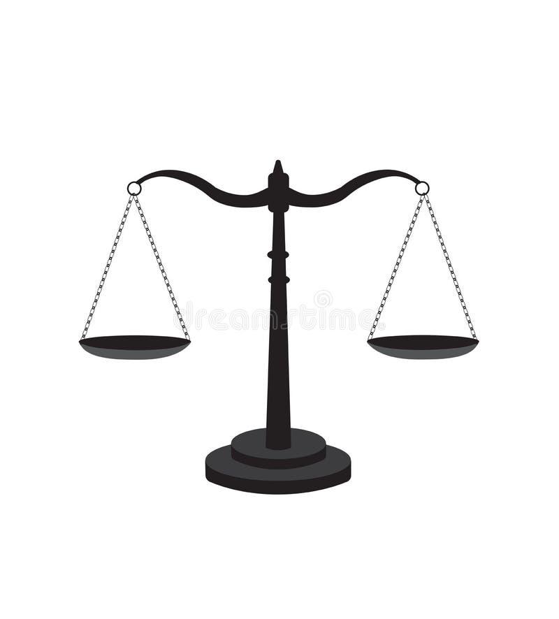 Масштаб значка правосудия иллюстрация вектора