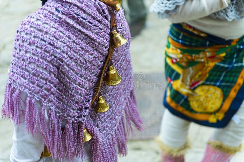 Масленица в улицах деревни Aliano Базиликаты стоковое изображение