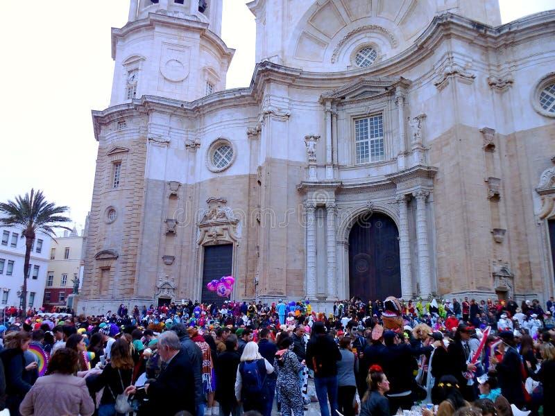 Масленица Кадиса 2017 анданте Испания стоковые изображения rf