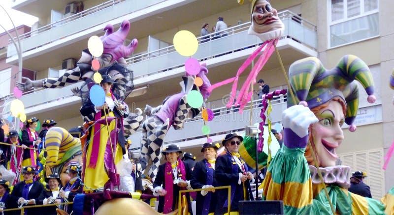 Масленица Кадиса 2017 анданте Испания стоковая фотография rf