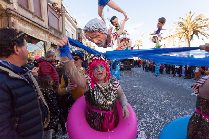 Масленица Viareggio, Тоскана, Италия стоковая фотография