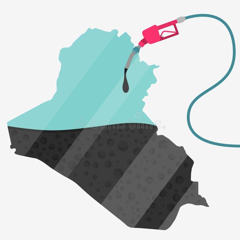 Масло Ирака иллюстрация вектора