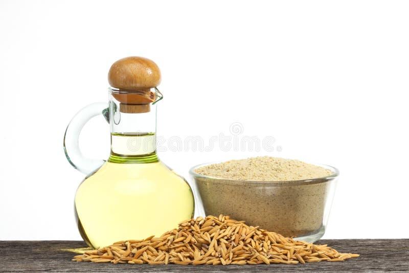 Масло рисовых отрубей стоковая фотография