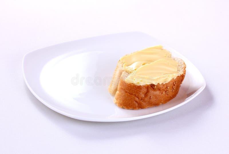 Масло с хлебом стоковое изображение rf