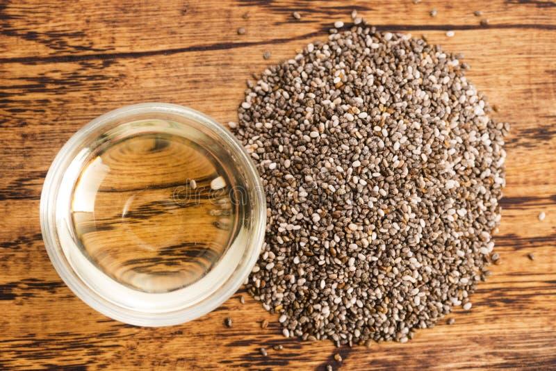 Масло Chia с семенами стоковое изображение