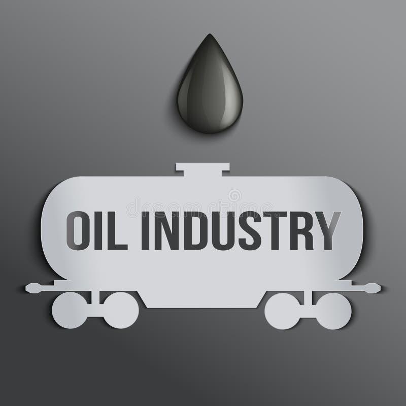 Масляный бак предпосылки и падение нефти. бесплатная иллюстрация