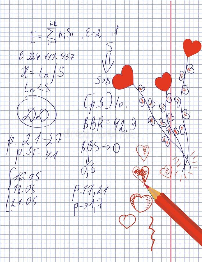 математика влюбленности сердец бесплатная иллюстрация