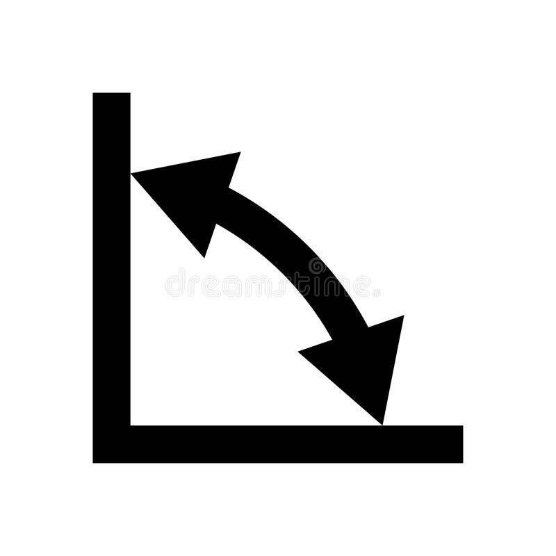 Математика геометрии подписывает значок символов черный иллюстрация штока