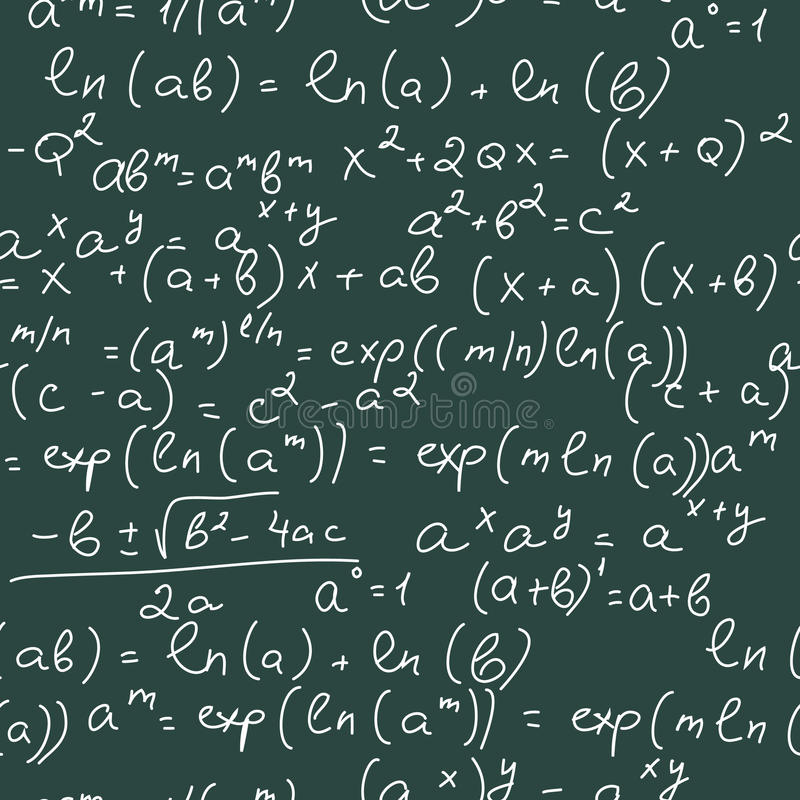 математика формул иллюстрация вектора