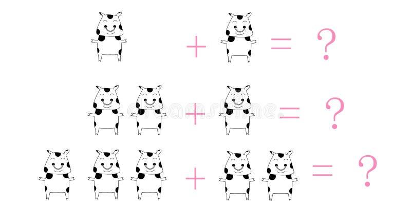 математика шаржа иллюстрация штока