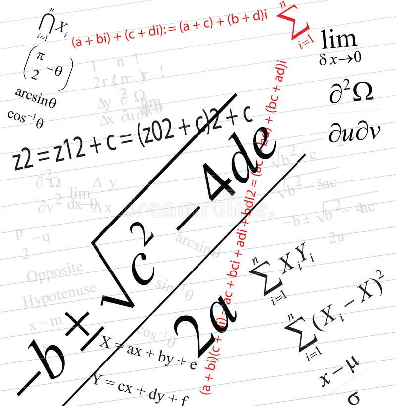 математика стоковые изображения