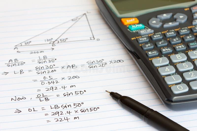 математика стоковая фотография rf