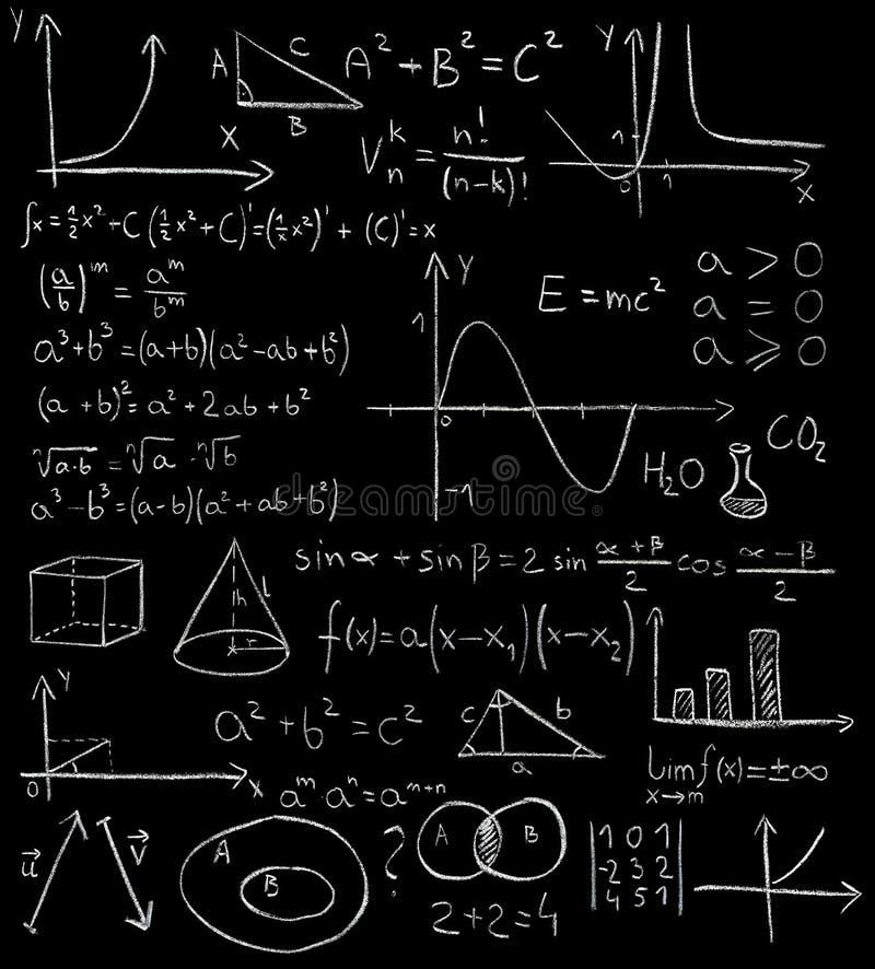 математики формул иллюстрация вектора