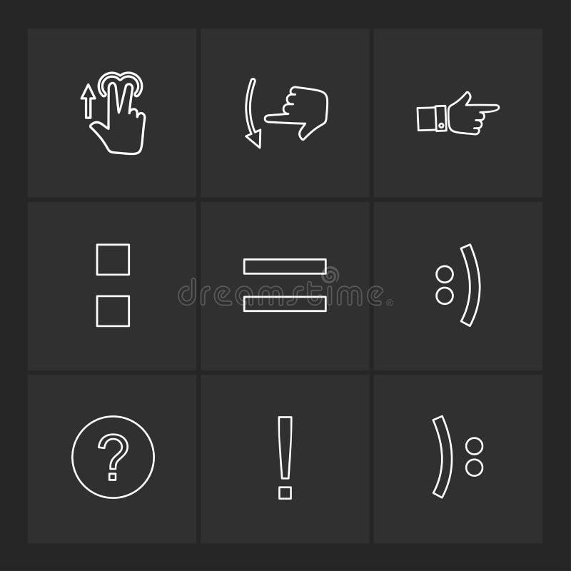 математики, emoji, равные, руки, указатель, стрелки, направления, иллюстрация штока