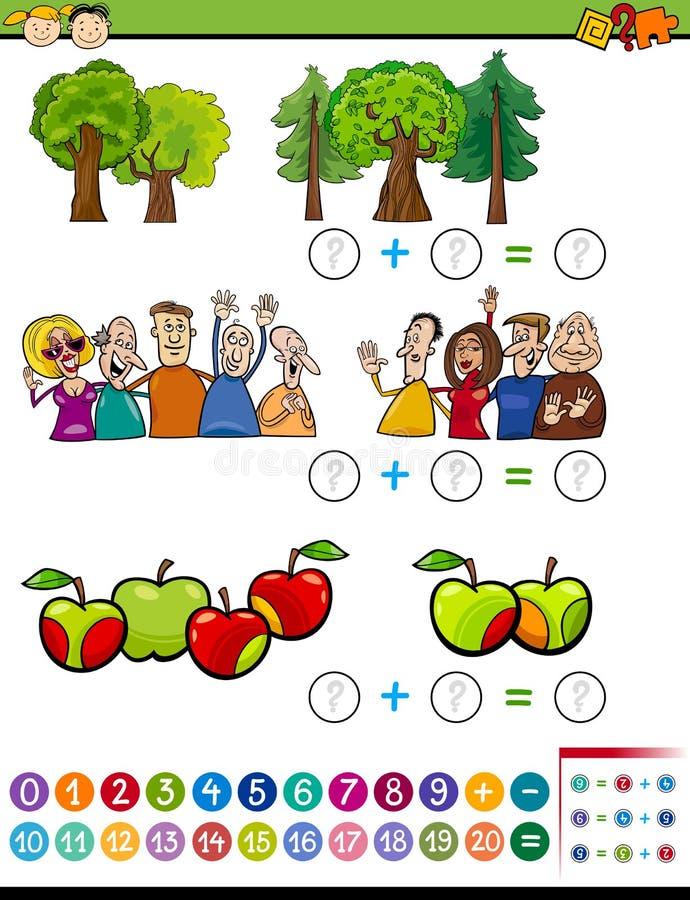 Математически задача алгебры для детей иллюстрация вектора