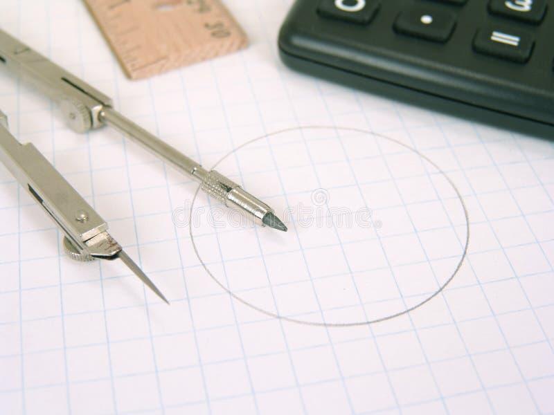 математически поставкы стоковая фотография