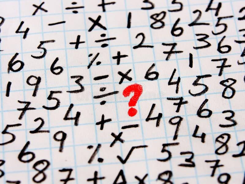 Математически символы и решение проблем стоковое изображение rf