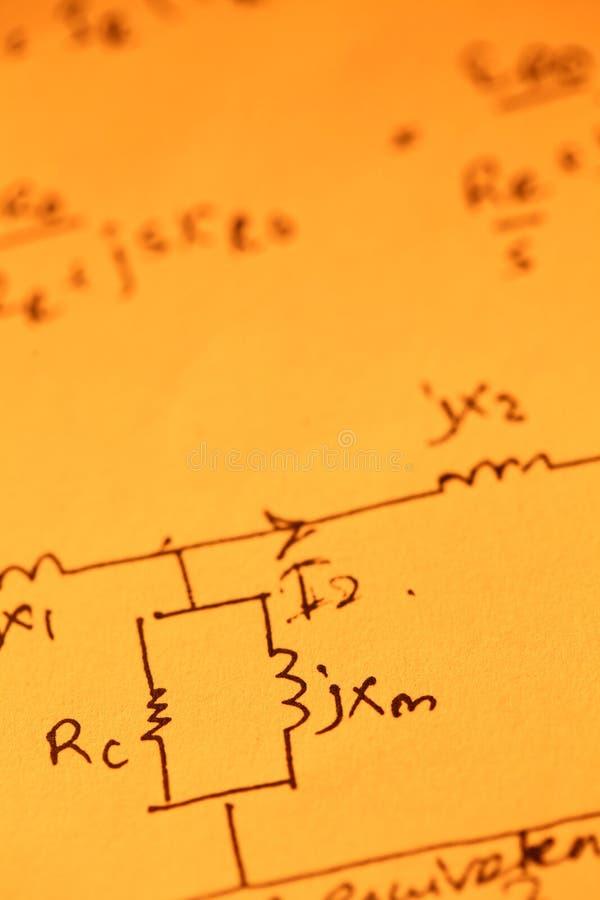 Математически текст стоковая фотография