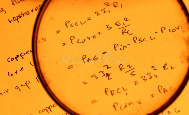 Математически текст стоковое фото