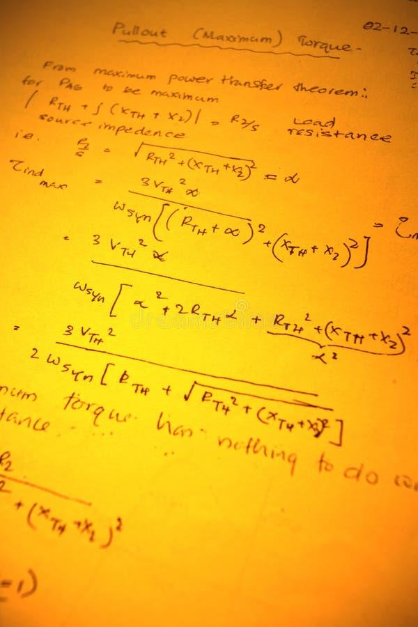 Математически текст стоковые изображения