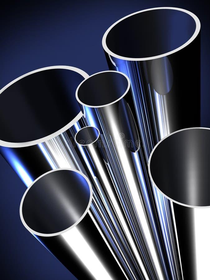 Материал производства стальной трубы иллюстрация штока
