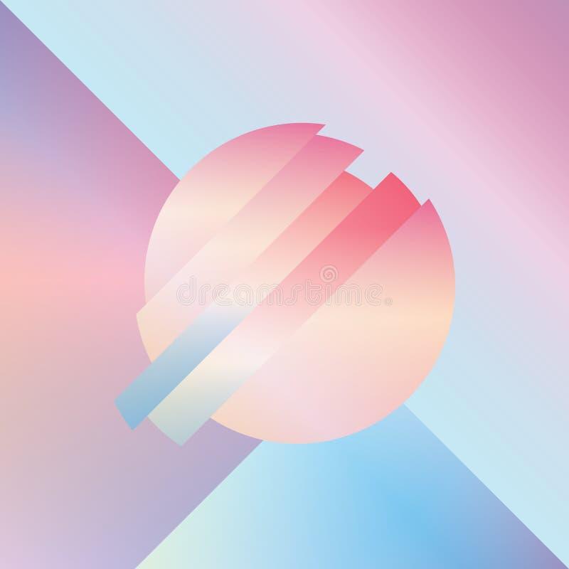 Материальная предпосылка вектора конспекта дизайна с геометрическими равновеликими формами иллюстрация штока