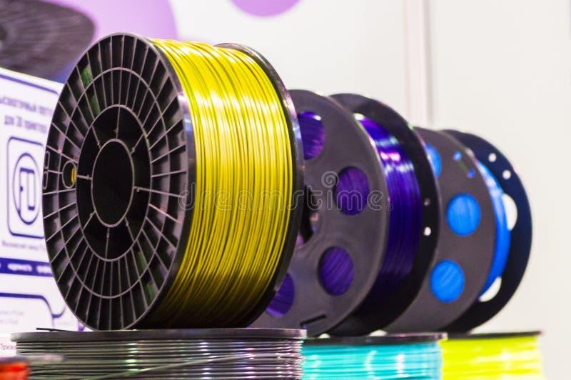 Материал для печатания 3D стоковые изображения