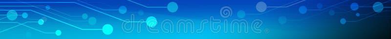Материнская плата компьютера на сини иллюстрация штока