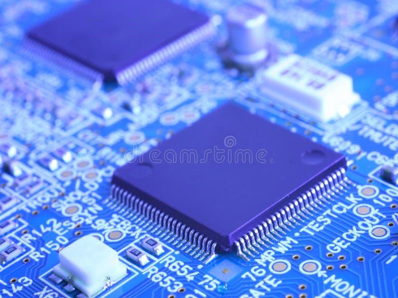 материнская плата компьютера цепи стоковое изображение