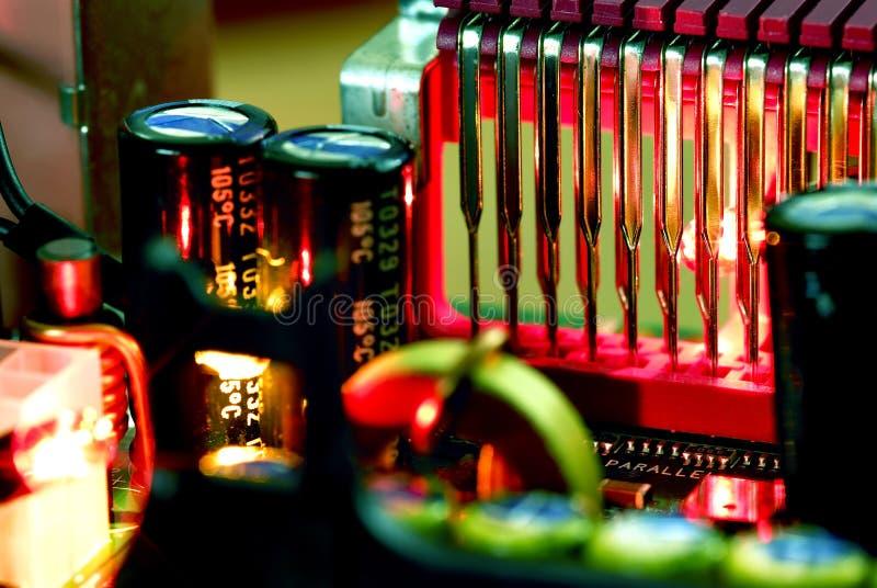 материнская плата компьютера стоковая фотография rf