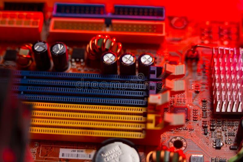 Материнская плата компьютера стоковые фото