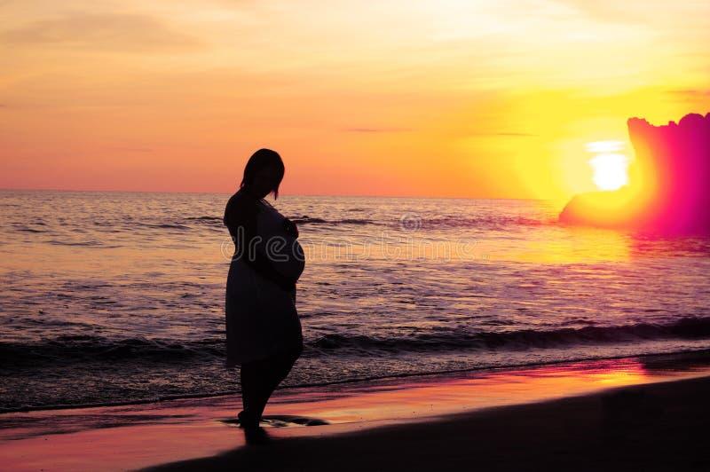 Материнский заход солнца стоковые изображения rf